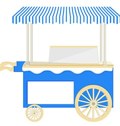 Ice cream blue cart vector