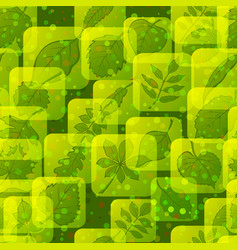 icons with leaves set vector image vector image