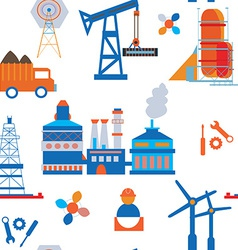 Industry and transport seamless pattern vector image vector image