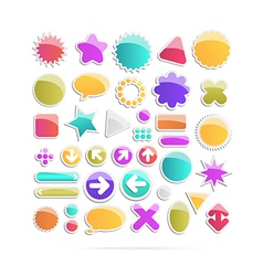 Labels Tags Set vector image vector image