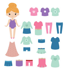 paper doll paper doll vector image