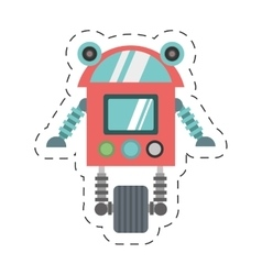 Robot cyborg machine futuristic cutting line vector