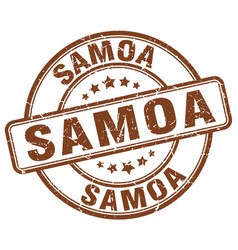 Samoa brown grunge round vintage rubber stamp vector