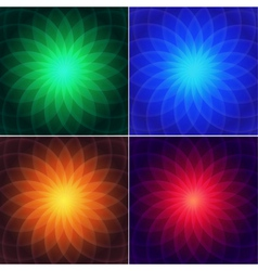 Set of colored backgrounds vector image vector image