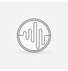 Sound logo or icon vector