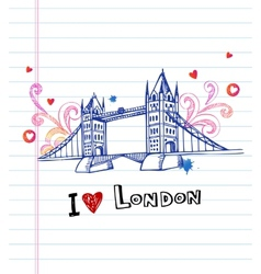 Tower bridge- symbol of London vector image
