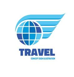 Travel - logo concept vector