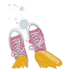 - pair of sneakers vector image