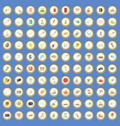 100 craft icons set cartoon vector