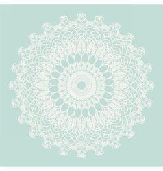 Delicate crochet lace ornament vector