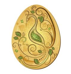 Gold big easter egg vector