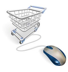 online internet shopping concept vector image
