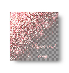 Glitter pink background vector