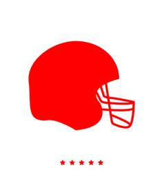 american football helmet it is icon vector image