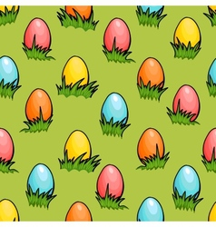 Cartoon seamless easter egg background vector
