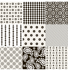 Seamless pattern set vector