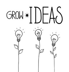 Grow ideas vector