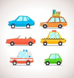 Car flat icon set 1 vector