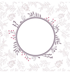Floral frame with background 04 vector