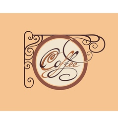 Vintage Style Coffee card vector image