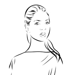 Woman portrait on a background vector