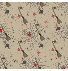 Vintage seamless pattern for halloween party vector
