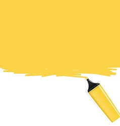 Yellow highlighter filling the frame vector