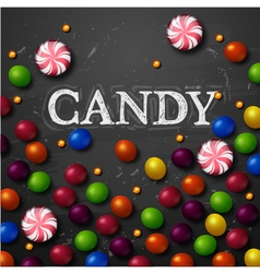 Color candy background chocolate candies vector