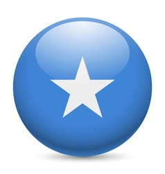 Round glossy icon of somalia vector image