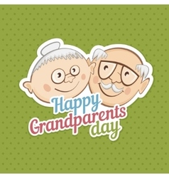 Greetings on grandparents day vector