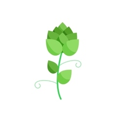 Branch of hops icon in cartoon style vector