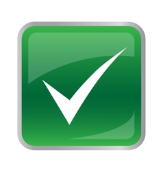 agree icon on green button vector image vector image