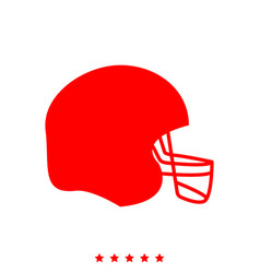 american football helmet it is icon vector image