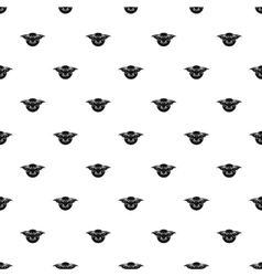 Bat and moon pattern simple style vector