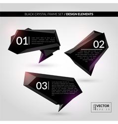 Black crystal frame set vector