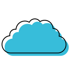 blue watercolor silhouette of cloud service icon vector image vector image