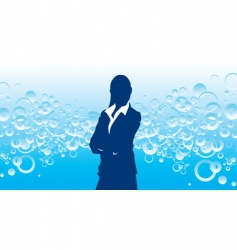 business bubble vector image