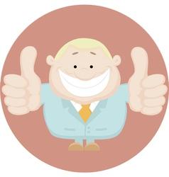 business man cartoon vector image