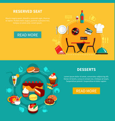cafe horizontal banners set vector image vector image