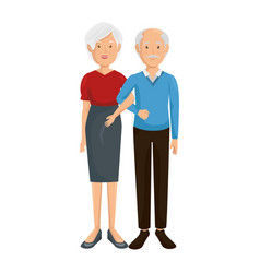 Cartoon couple icon vector