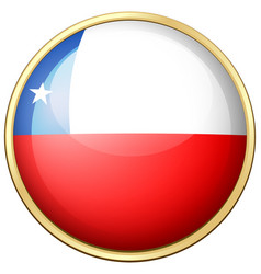 chile flag on round frame vector image vector image