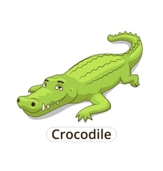 Crocodile african savannah animal cartoon vector