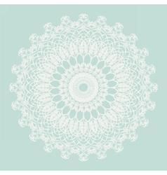 Delicate crochet lace ornament vector