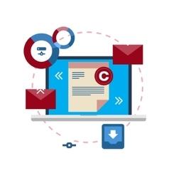 Document management flat icon concept vector