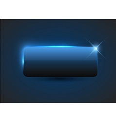 Empty blue button vector
