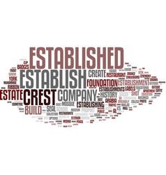 Establish word cloud concept vector