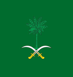 flag of saudi arabia vector image