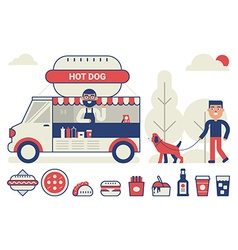 Food truck concept vector image vector image