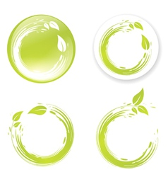 Green Eco Design Label vector image