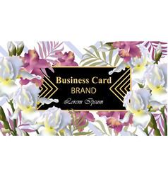 iris flowers card beautiful vector image